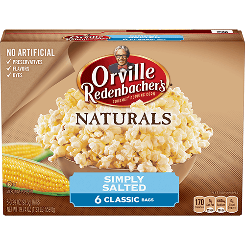 Naturals Simply Salted Microwave Popcorn